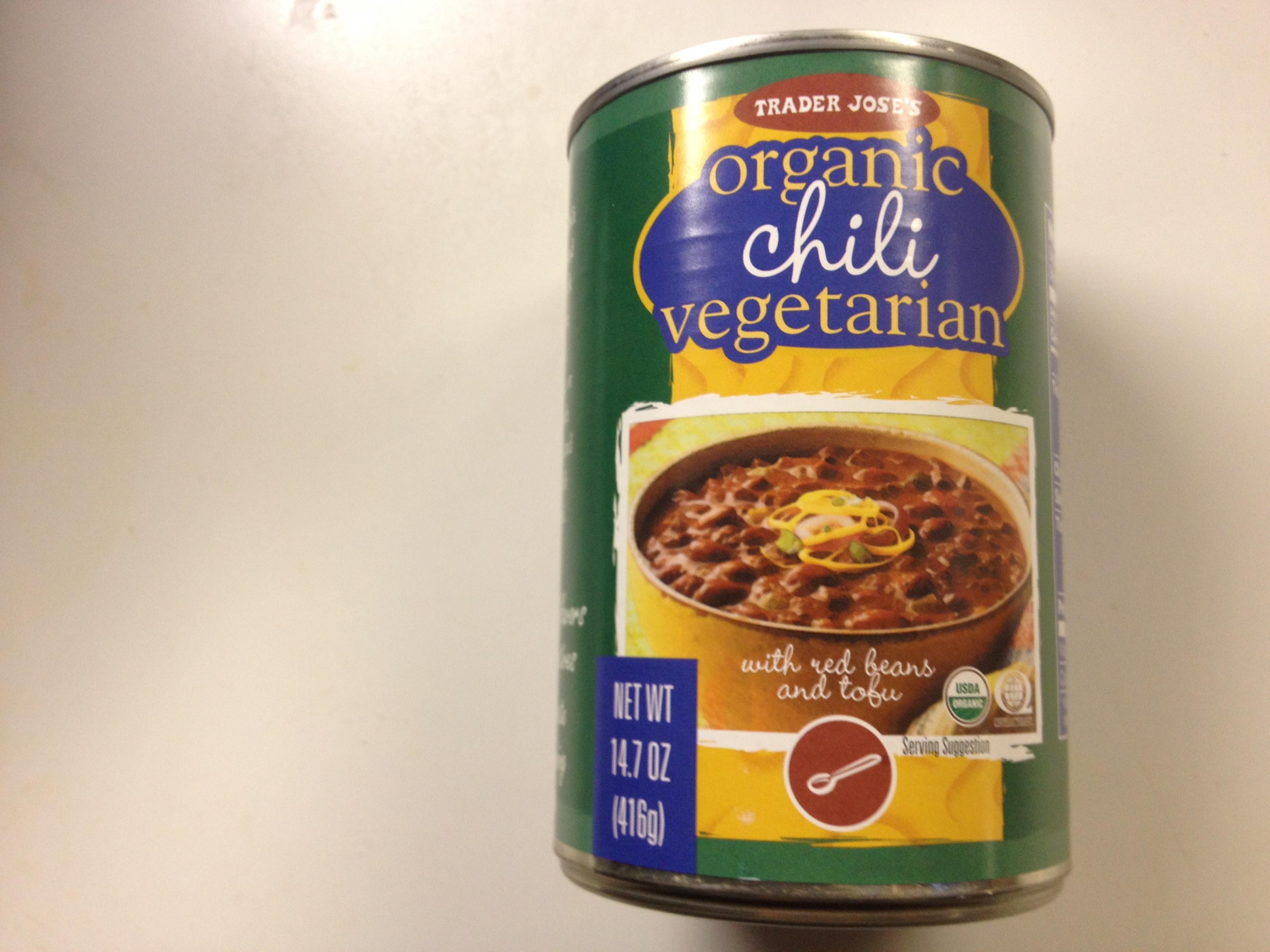 Organic Vegetarian Chili From Trader Joe S Things I Love At Trader Joe S