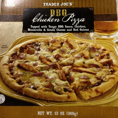 Barbeque chicken pizza from Trader Joe's