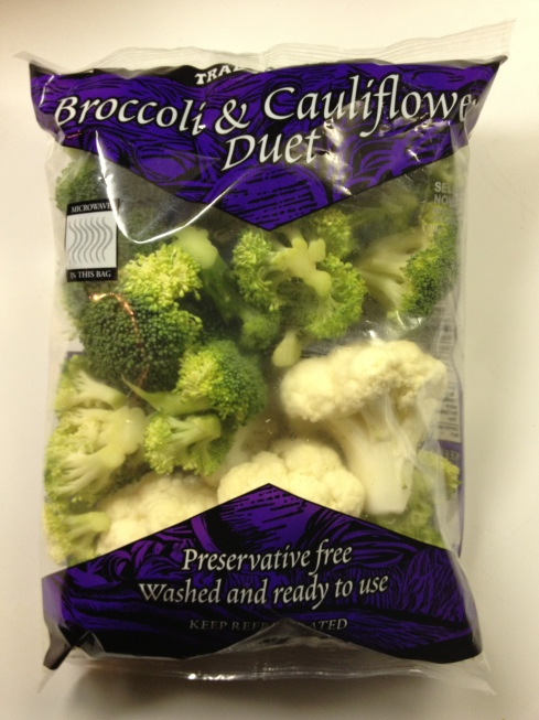 Broccoli and cauliflower from Trader Joe's
