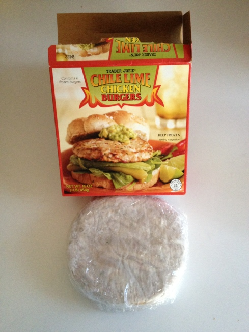 Trader Joe's Chili Lime Chicken Burger