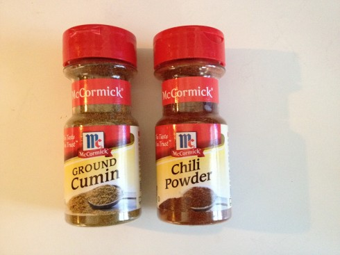 Chili powder and cumin