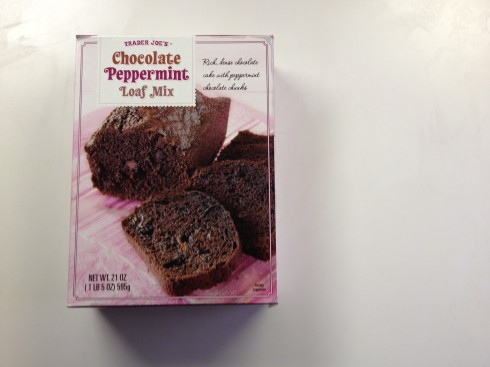 Trader Joe's Chocolate Peppermint Loaf