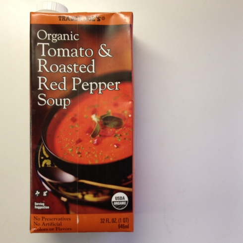 Trader Joe's Tomato and Roasted Red Pepper Soup