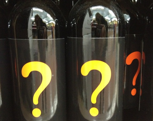 Question mark wine from Trader Joe's