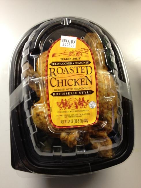 Roasted chicken from Trader Joe's