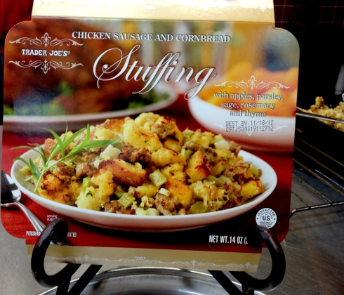 Box of stuffing from Trader Joe's
