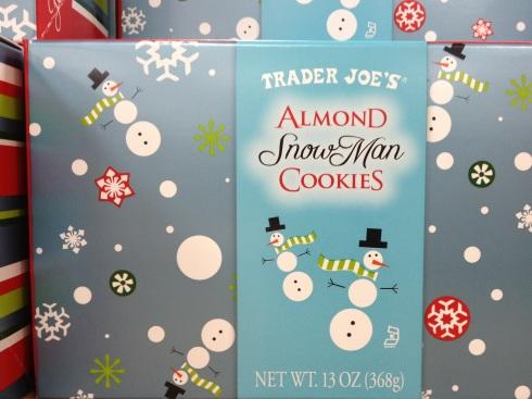 Trader Joe's snowman cookies