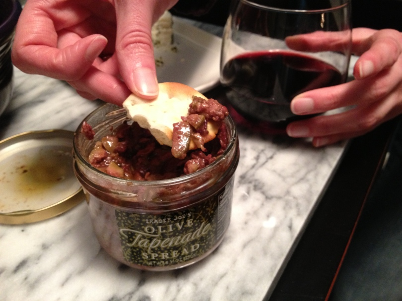 It's party time with tapenade, full of chunky, meaty olives.