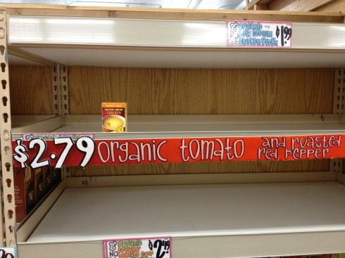 Trader Joe's soups were selling out before the storm