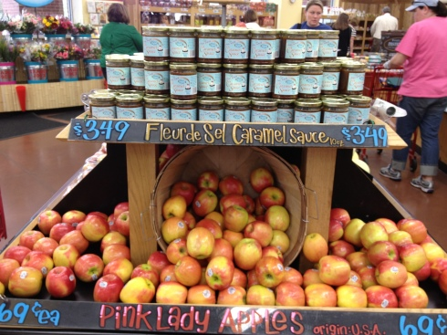 Caramel and apples from Trader Joe's