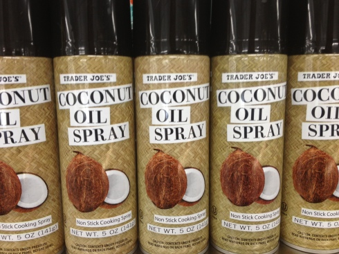 Coconut Oil Spray lined up and ready to deliver