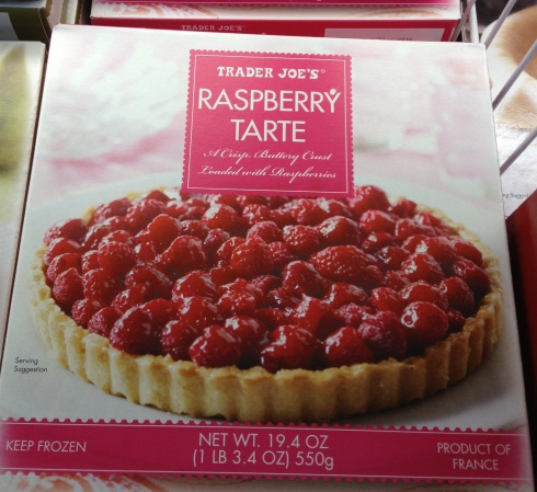 Raspberry tart from Trader Joe's