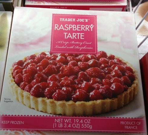Raspberry tart from Trader Joe's