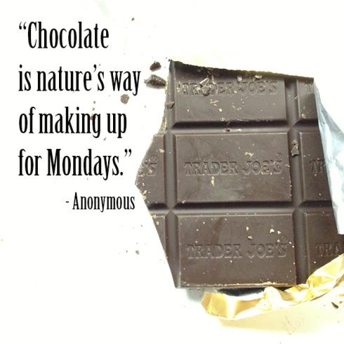 Trader Joe's dark chocolate goodness