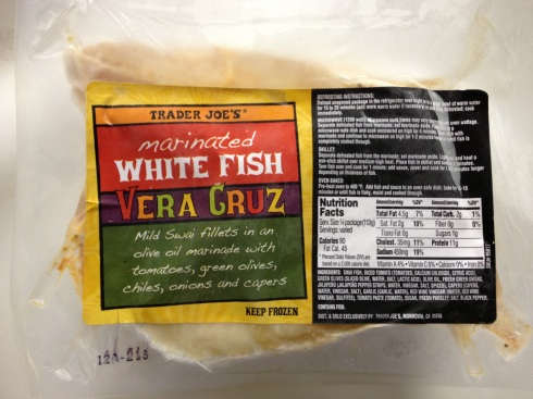 White fish Vera Cruz from Trader Joe's