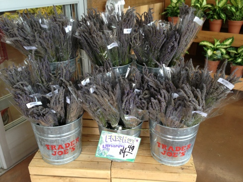 Trader Joe's welcomes customers with fresh lavender