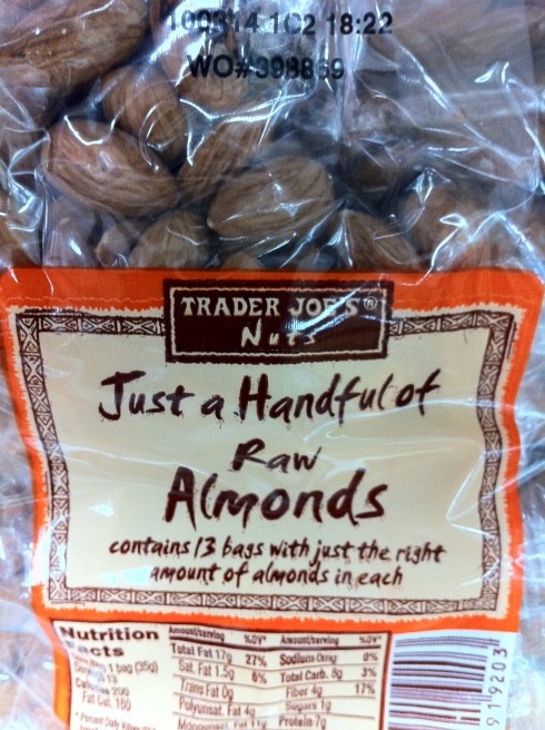 packs of almonds