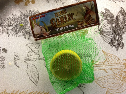 Trader Joe's garlic bag saves the day